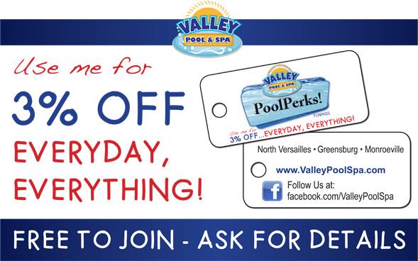 Valley Pool Spa North Versailles Pa Greensburg Pa Poolperks Customer Loyalty Program